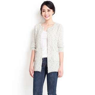 314d13cc74  Brand New  Lilypirates Layer Of Luxe Cardigan In Cream