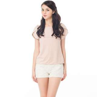 fb746d7308  Brand New  Ninth Collective GIGI SUEDE PETAL BLOUSE IN NUDE PINK (Size XS