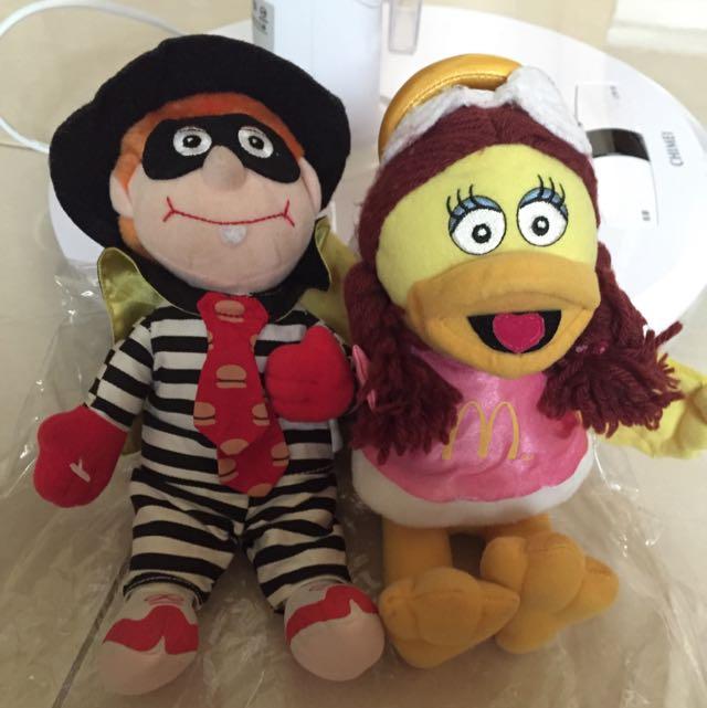 麥當勞1999年大鳥姊姊漢堡神偷玩偶布娃娃