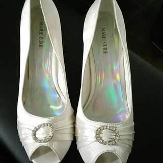 Price Drop! White Evening Shoes
