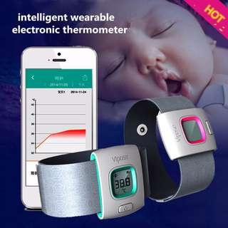 ★ Bluetooth Smart Thermometer Intelligent Monitor for Babies (Color:- Sky Blue) ★ 24hours Monitoring & Special Alert System for Your Special One ★ Free App for Apple & Android Smartphones ★