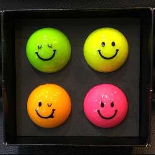 全新Kasco KIRA 微笑 彩色高爾夫球4顆裝