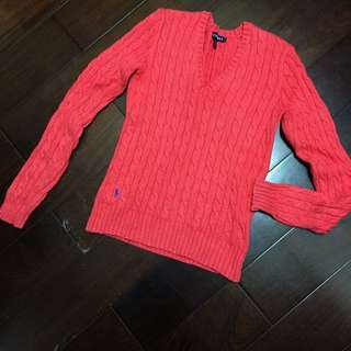 二手正品 Ralph Lauren Polo 針織衫 V領毛衣