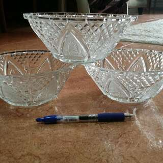 Glass Bowls (3pc per set for $3.00)