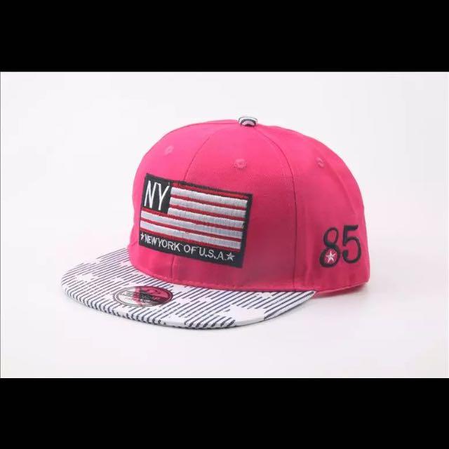 寶寶星旗粉色棒球帽