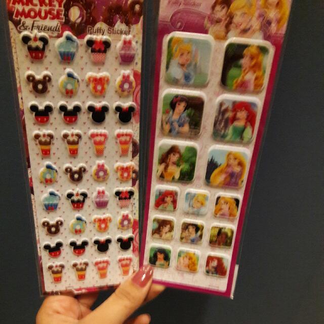 迪士尼米奇公主 泡泡貼紙