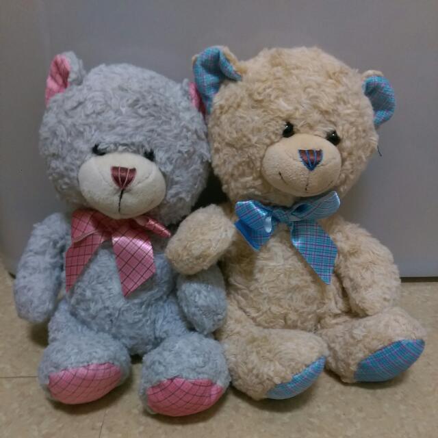 超柔軟 療癒小熊情侶