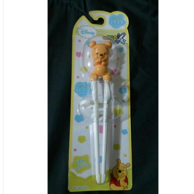 小熊維尼 兒童學習輔助筷 適用年齡:2歲以上 韓國製