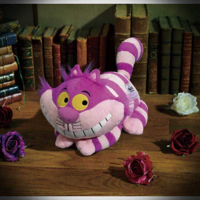 「一番くじ 不思議の国のアリス」最後賞 柴郡貓 迪士尼 愛麗絲 妙妙貓 玩偶