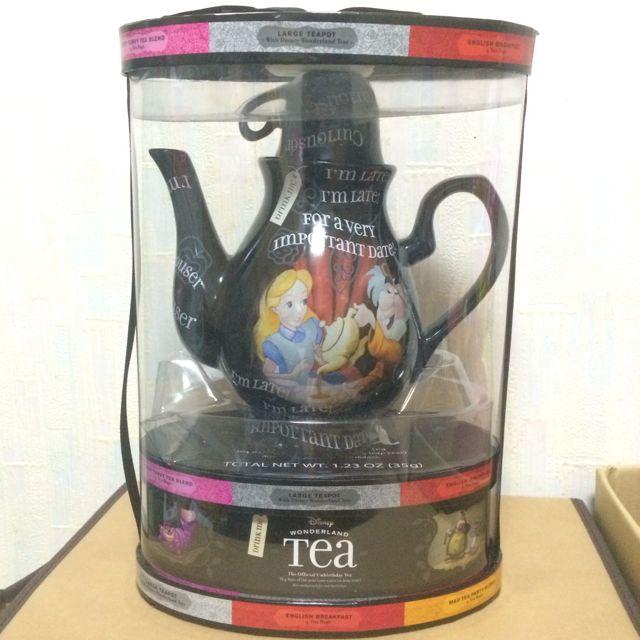 美國 迪士尼 遊樂園 限定 愛麗絲夢遊仙境 愛麗絲 時間兔 妙妙貓 茶壺 茶杯 二手 收藏變賣