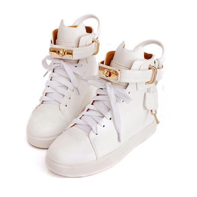 全新 Ann'SXB2B貓咪鎖頭柏金包內增高球鞋 白 24號