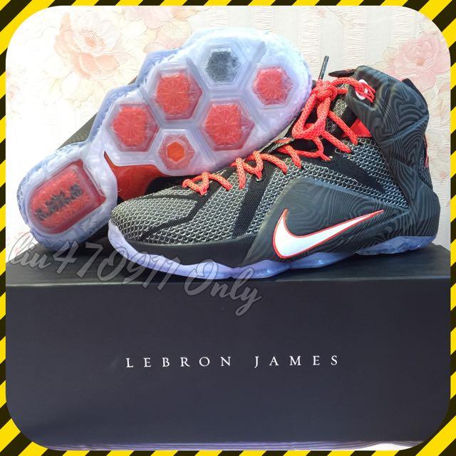 保證全新正品 Lebron James 12 代 EP版 US9.5 籃球鞋
