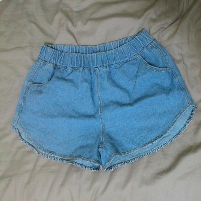 超好搭 Orenda 牛仔 短褲 淺藍