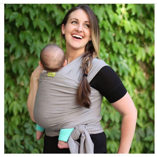 美國Boba wrap 包裹式嬰兒揹巾-灰色