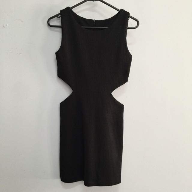 Bodycon mini dress with side cutouts