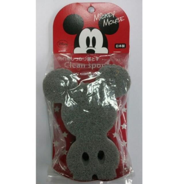 Disney迪士尼 米奇造型 清潔海綿菜瓜布 日本製