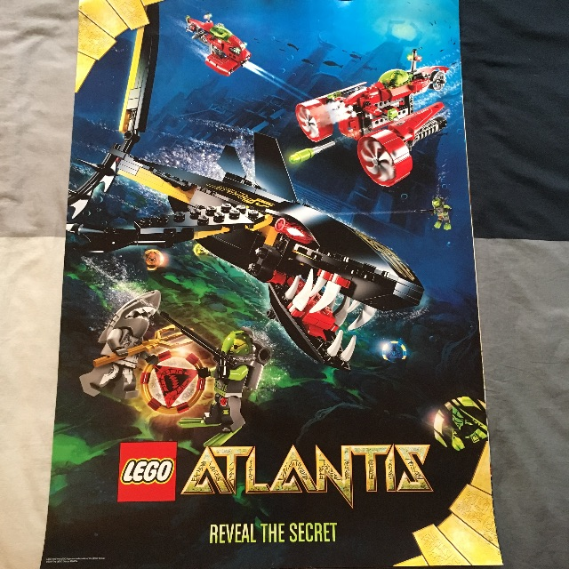 Lego Atlantis Poster Toys Games Board Games Cards On Carousell