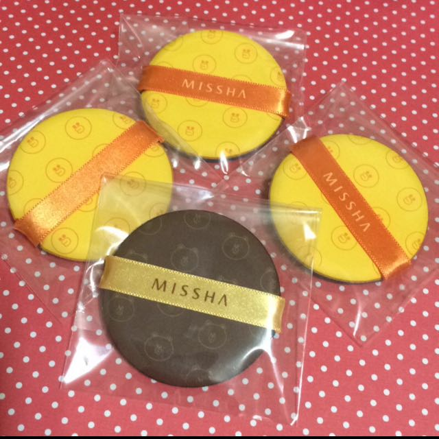 Missha*Line氣墊粉餅專用粉撲 熊大 莎莉 Iope也可用