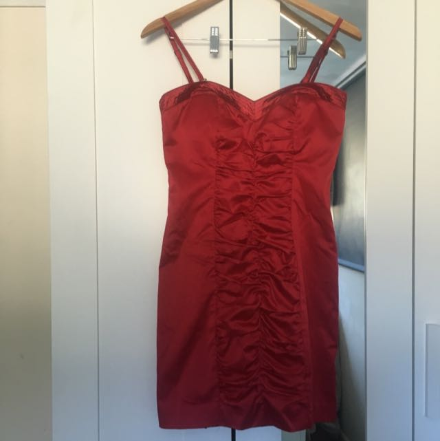 Red Satin Dress!