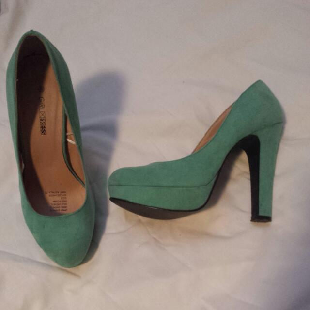 Shoes - Green - 70's Inspired