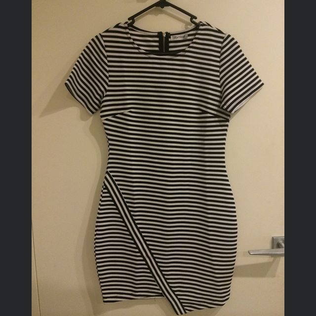 Stripped Tight Fit Dress