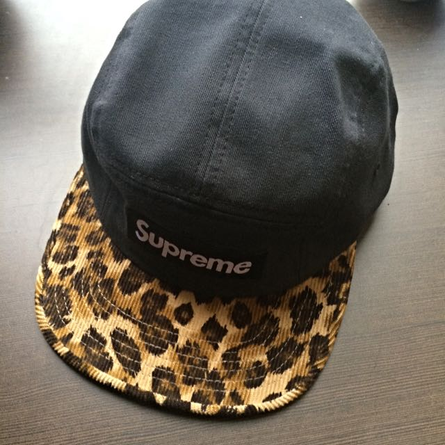 1a0da63c239 uk supreme 5 panel hat leopard print sports on carousell 7ea7d 5fcb0