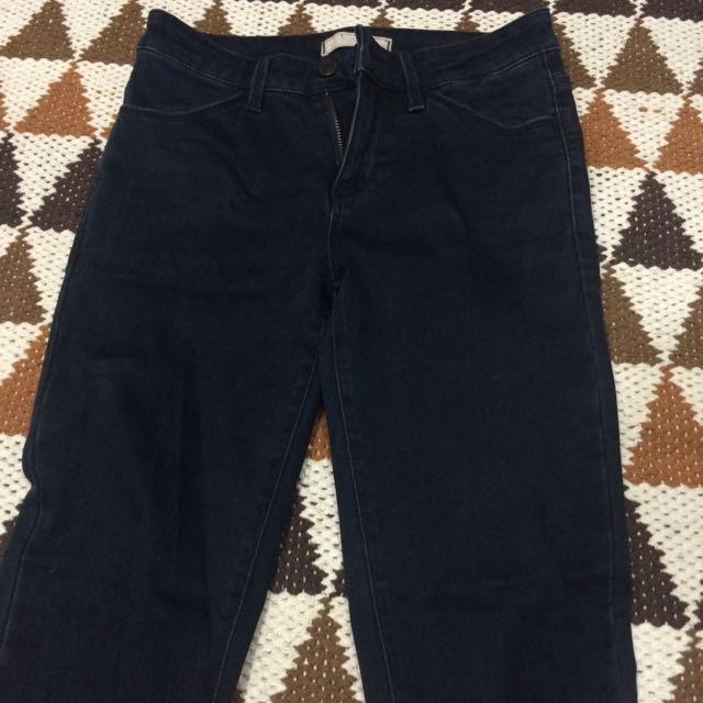 Uniqlo特級彈性牛仔褲 深藍