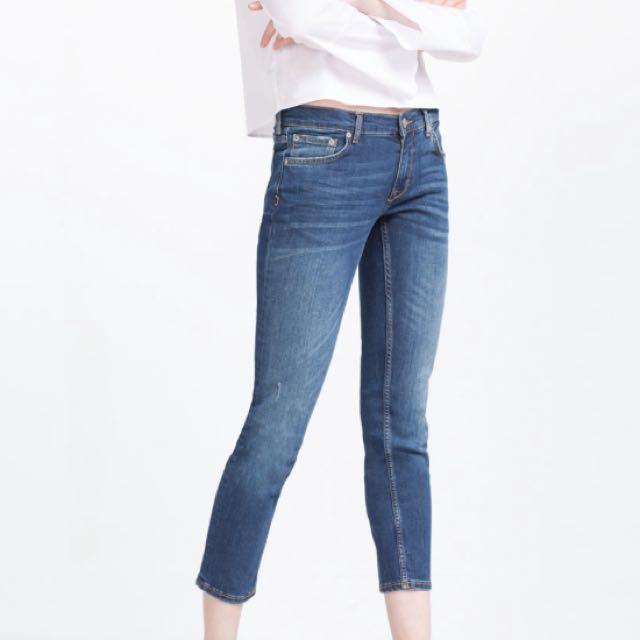 Zara 中腰煙管牛仔褲
