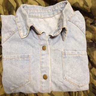💎短板淺藍牛仔外套/襯衫👖