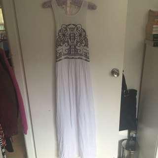 striking maxi dress