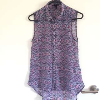 Purple Chiffon Blouse