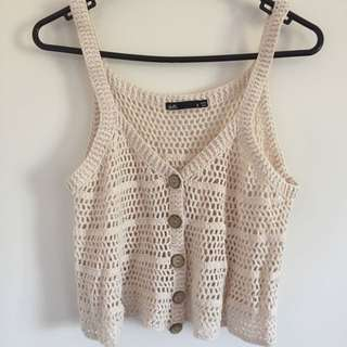 New Beige Knit Top Size S