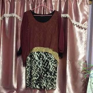 MOMA多層次薄紗小洋裝