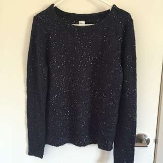 Navy Blue Sweater Size 12