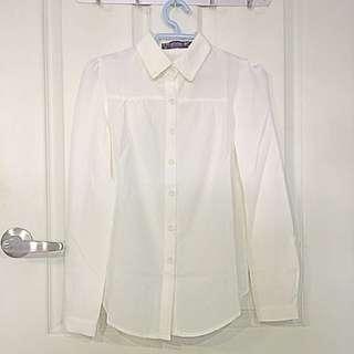 White Formal button shirt