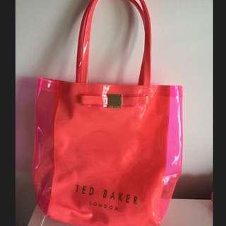 TED BAKER LONDON Pink Bow Shopper Bag