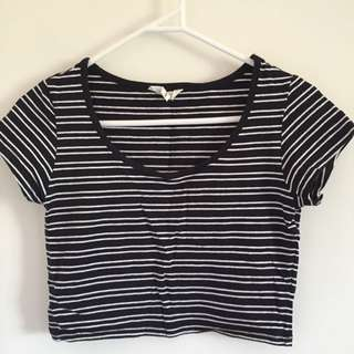 Stripe Crop Top Size S