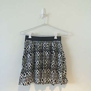 Aztec High Waisted Flowy Skirt