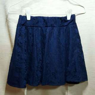 🚚 Clearance Sale - Brand New Navy Blue Lace Skater Skirt (include free normal mail)