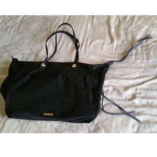 Rebecca Minkoff Nylon MAB Tote, Black with gold hardware