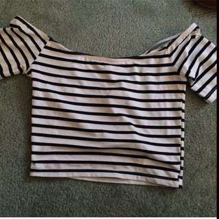Right Stripy Crop Top