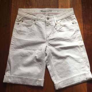 Jeans West White Mid length Shorts