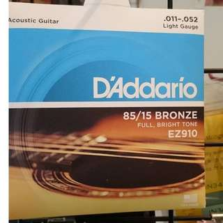 daddario  ez910 木吉他弦