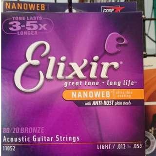 Elixir 木吉他弦黃銅 10-11-12  三款