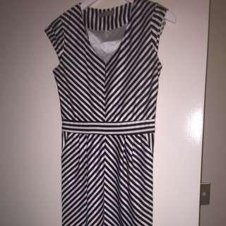 Knee Length Stripe Dress Size 6