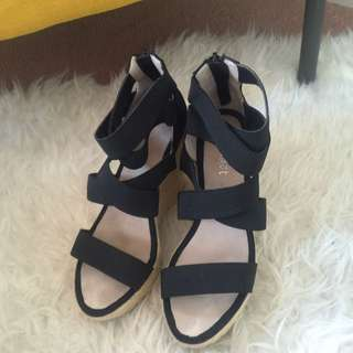 Bardot Black Wedges