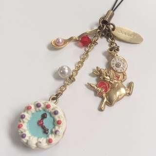 日本 東京 迪士尼 樂園 愛麗絲 時間兔 妙妙貓 吊飾 鑰匙圈 二手 收藏變賣