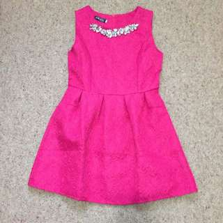 Hot Pink Elegant Dress Size M To L
