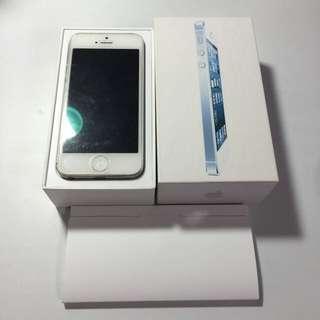 Iphone5 16g 銀白 功能正常