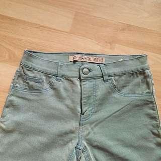 (免運、全新)Zara 灰藍色 skinny 彈性褲 長褲 貼腿褲